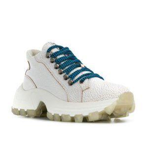 NEW Miu Miu Cracked Leather Chunky Sneakers 39